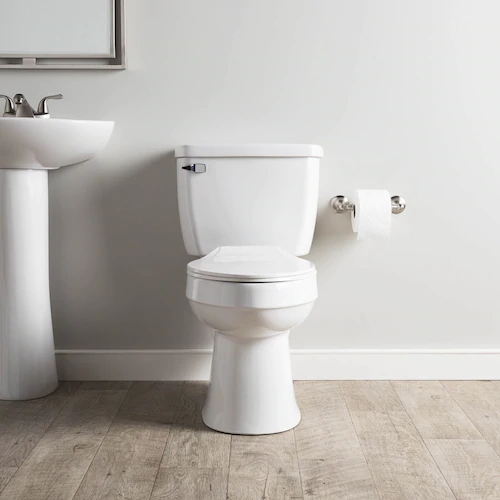 AquaSource Henshaw White WaterSense Elongated 2-Piece Toilet