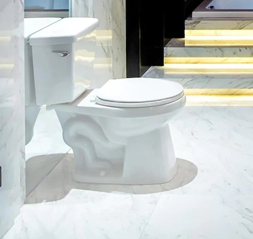 AquaSource High-Efficiency White WaterSense 2-Piece Toilet
