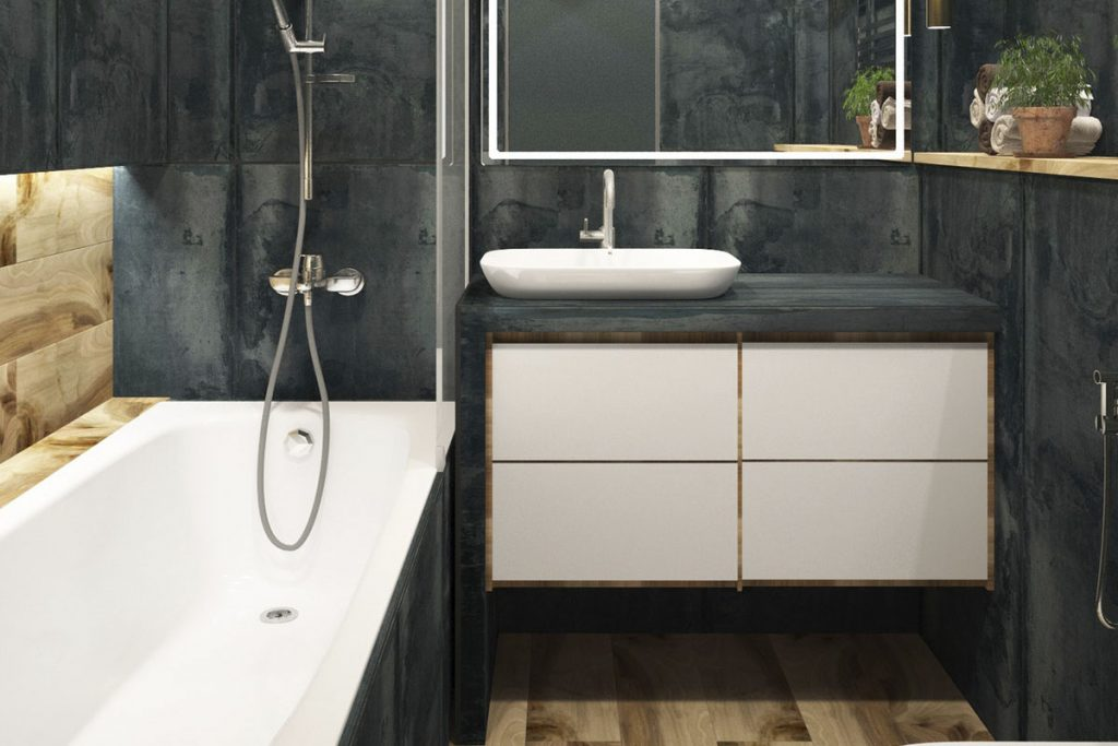 Gray vanity bathroom