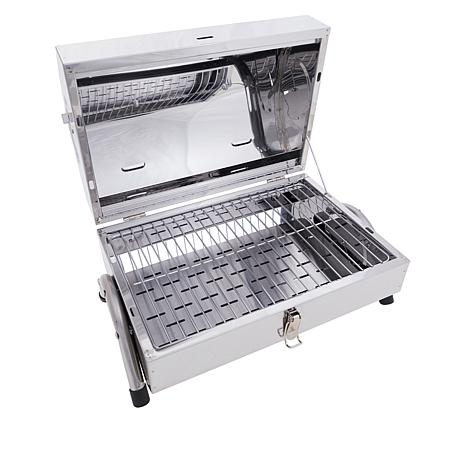Wolfgang Puck Stainless Steel Portable Charcoal Grill