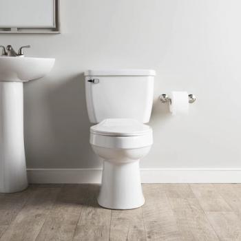 AquaSource Henshaw White WaterSense Elongated 2-Piece Toilet